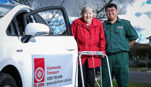 St John community transport service