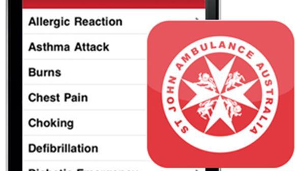 St John First Aid App on phone