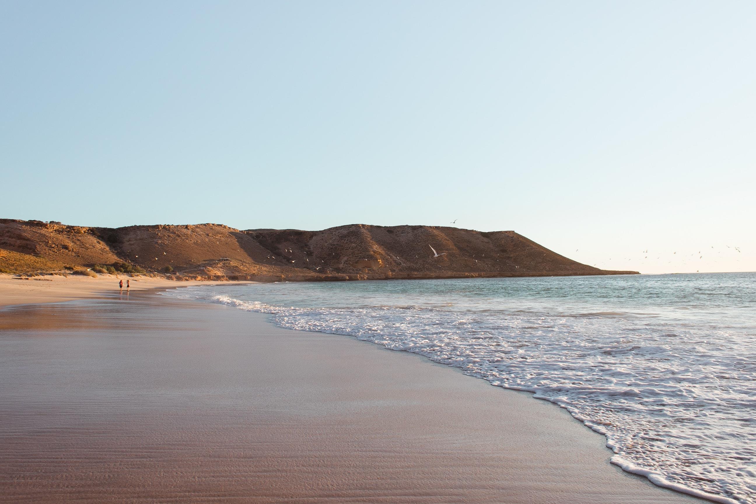 Beach sunburn