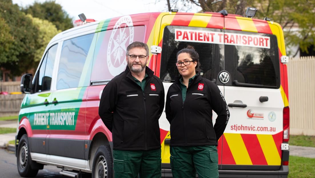 St John Non-emergency Patient Transport officer