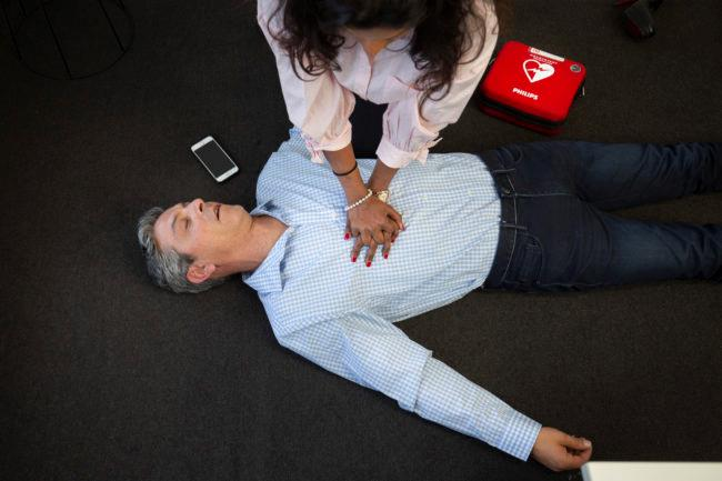 St John first aid training CPR