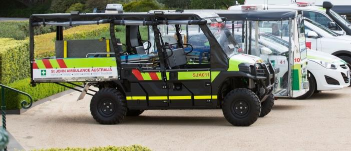 st john first aid at events buggy