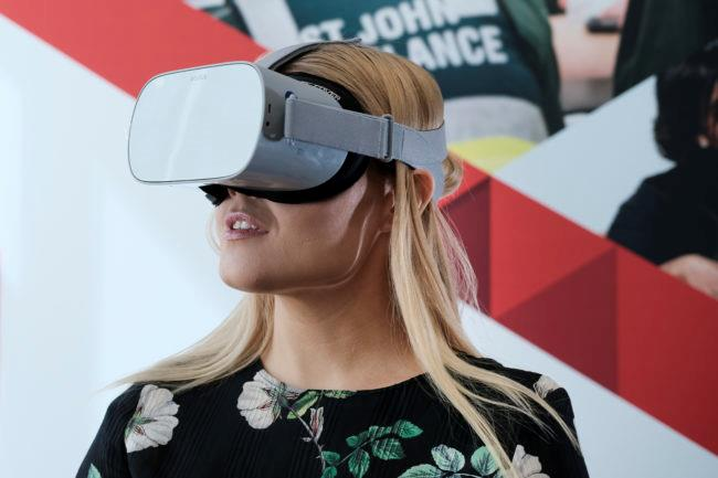 St John first aid training virtual reality VR goggle delivery