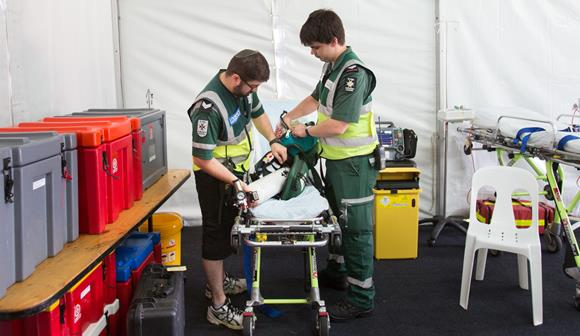St John first aid at events volunteers packing equipment