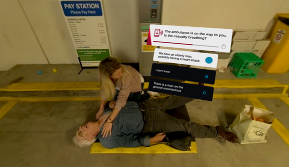 st john first aid training - SJx virtual reality