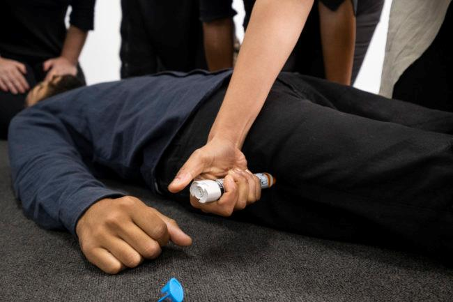 St John first aid training epipen