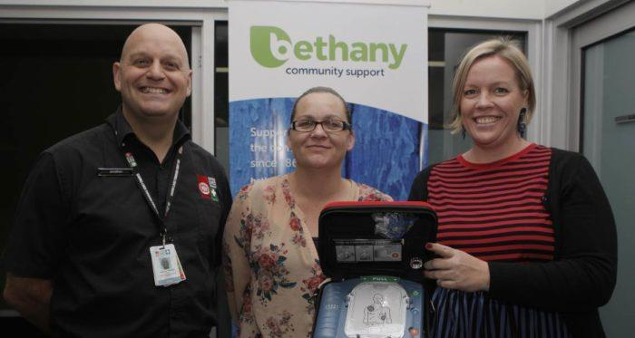 St John defibrillator Jonathon Barge Bethany Community Support