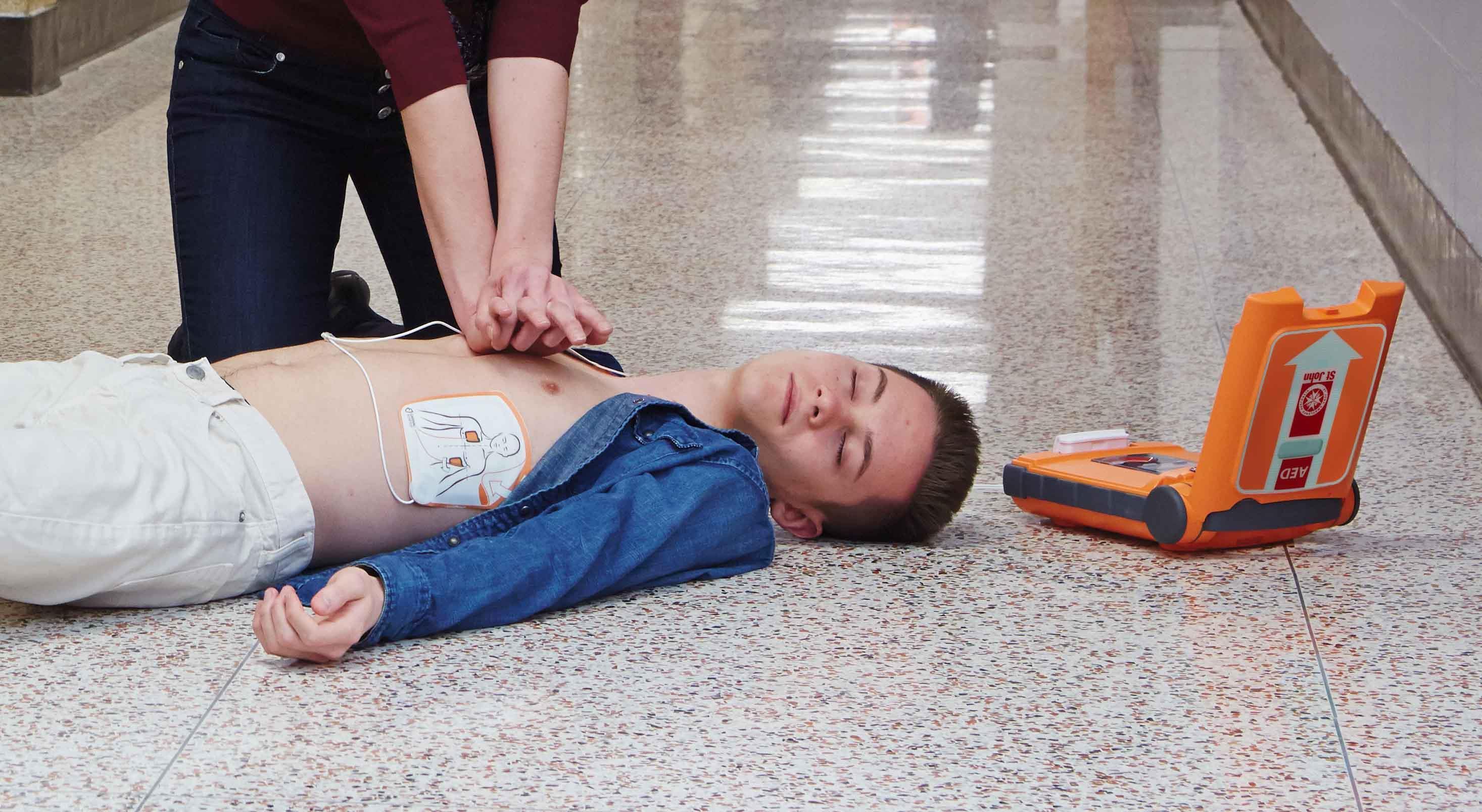 St John Defibrillator