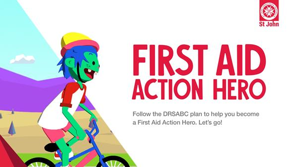 St John First Aid Game App - First Aid Action Hero