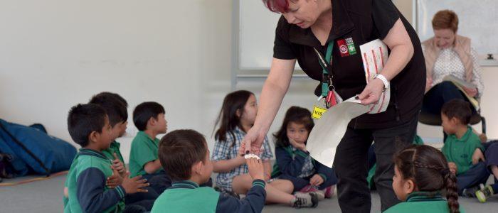 St John First Aid in Schools Program - children with presenter