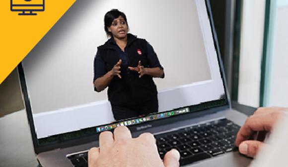 St John first aid training mental health virtual classroom on laptop