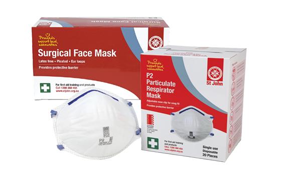 St John surgical face P2 respirator masks product