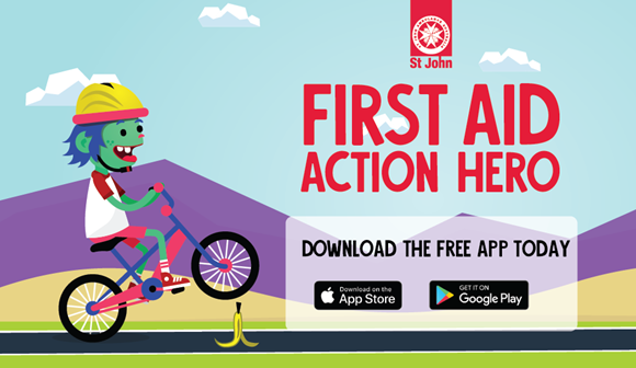 First aid action hero game banner