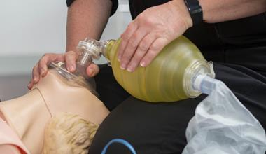 St John first aid training - advanced resuscitation on manikin practice